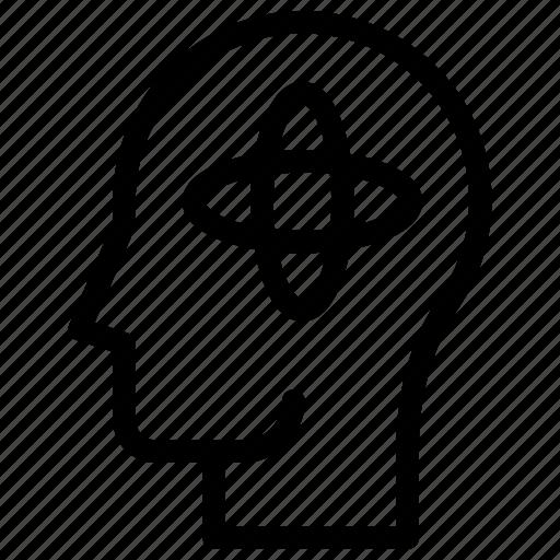 confused, depression, headache, migraine, nervious, stress icon icon