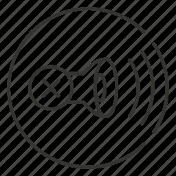 audio, mute, off, sound, speaker, volume icon