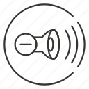 audio, control, down, minus, mute, sound, volume icon
