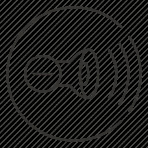 audio, control, down, minus, mute, sound, volume icon