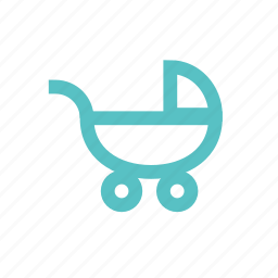 baby, buggy, child, motherhood, pram icon