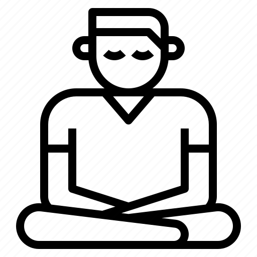 meditation, mind, relaxation, spirit, vipassana icon