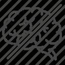 alzheimer, brain, disease, disorder, forgot, memory lost icon