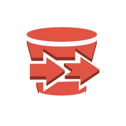 aws, content, delivery, export, import, storage icon