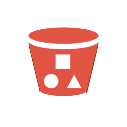 amazon, bucket, content, delivery, objects, s3, storage, with icon