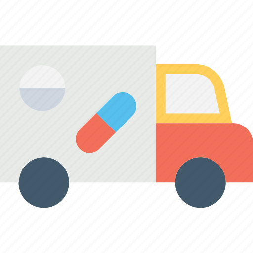 chemist service, drugstore truck, medicine delivery, pharmacy delivery, pharmacy van icon
