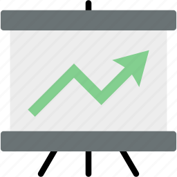 analytics, arrow, chart, graph, report, statistics, up icon
