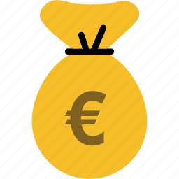 bag, bank, currency, euro, finance, money icon