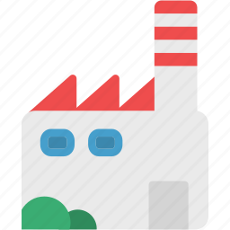 buidling, factory, industrial, industry, mill, production, work icon