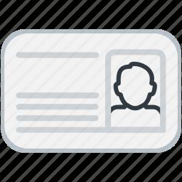 card, id, male, man, person, profile icon