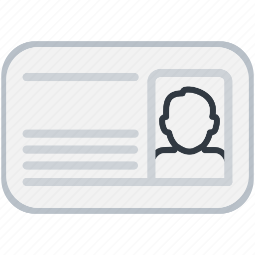 Card, id, male, man, person, profile icon - Download on Iconfinder