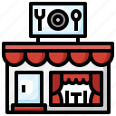 restaurant, buildings, food, shop, store