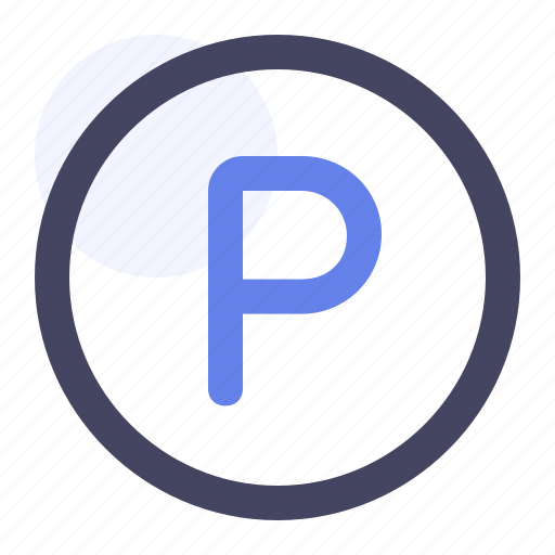 Circle, park, parking, sign icon - Download on Iconfinder