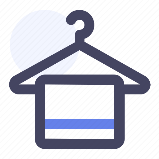Bath, bathroom, hanger, towel icon - Download on Iconfinder
