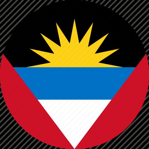 antigua and barbuda, country, flag icon