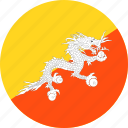 bhutan, country, flag icon
