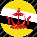 brunei, country, flag