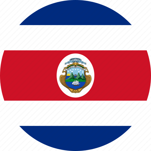 costa rica, country, flag icon
