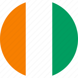 cote d'ivoire, flag, ivory coast icon