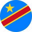 congo, country, democratic republic of the congo, drc, flag icon