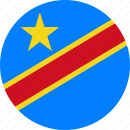congo, country, democratic republic of the congo, drc, flag icon