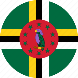 country, dominica, flag icon