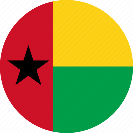 bissau, country, flag, guinea, guinea-bissau icon