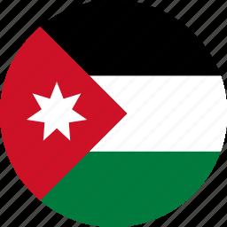 country, flag, jordan icon
