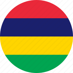 country, flag, mauritius icon
