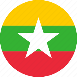 country, flag, myanmar icon