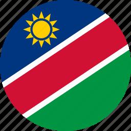 country, flag, namibia icon