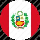 peru, country, flag icon