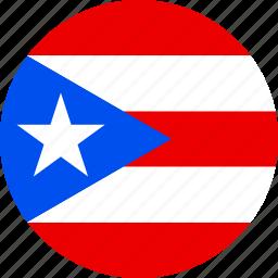 flag, puerto rico icon