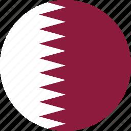 country, flag, qatar icon