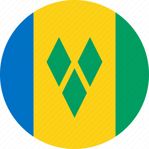 flag, saint vincent and the grenadines icon