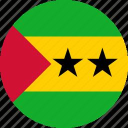 flag, sao tome and principe icon