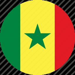 country, flag, senegal icon