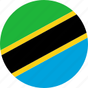 country, flag, tanzania icon