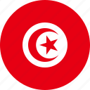 tunisia, country, flag icon
