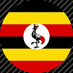 country, flag, uganda icon