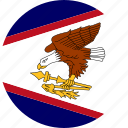 american samoa, country, flag icon