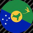 christmas island, flag icon