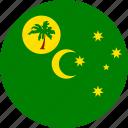 cocos, cocos islands, country, flag