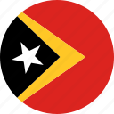 east timor, flag, timor-leste icon