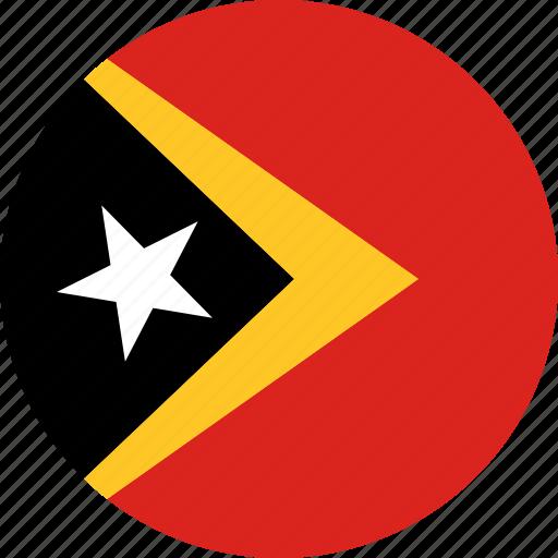 east timor, flag, timor-leste icon