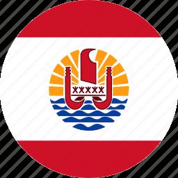 country, flag, french polynesia, polynesia icon