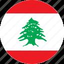 lebanon, country, flag icon