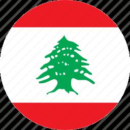 country, flag, lebanon icon
