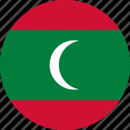 country, flag, maldives icon