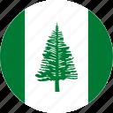 norfolk, norfolk island, country, flag icon